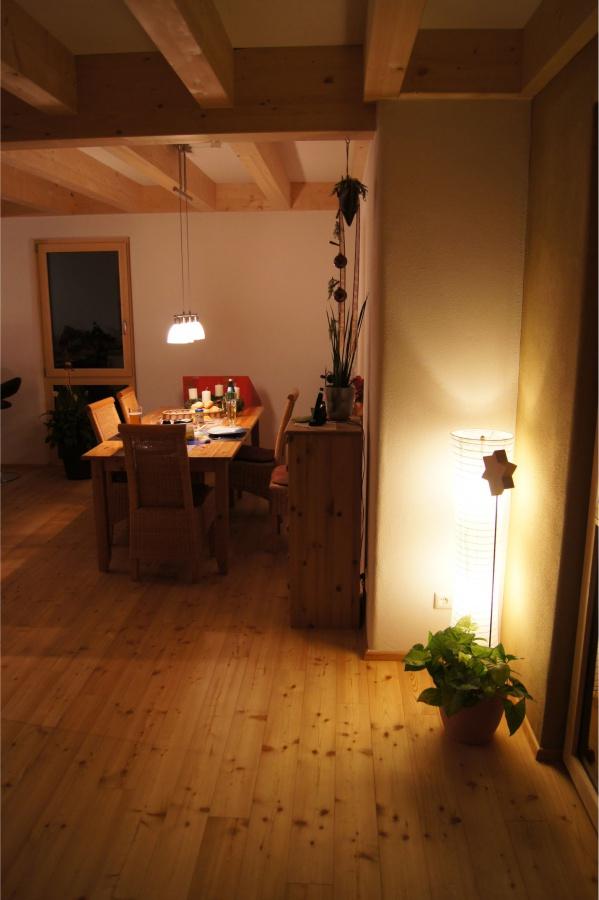 Wohnraum am Abend